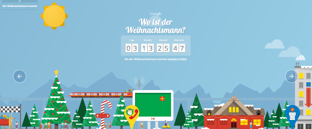 Adventskalender Nr. 21 Santatracker